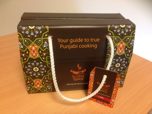 Scotia Spice Box of spices, recipes and instructions - everything you need for a great curry!